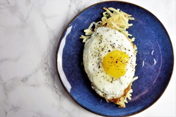 Chinese Style Hash Browns and Eggs