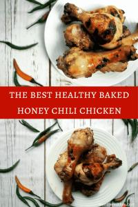 The Best Healthy Baked Crispy Honey Chili Chicken