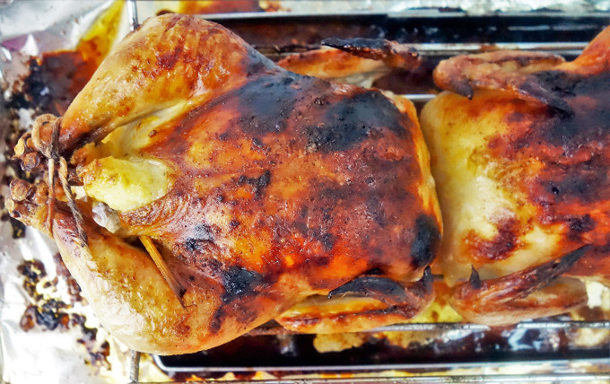 The Perfect Cheesy Roasted Cornish Game Hens