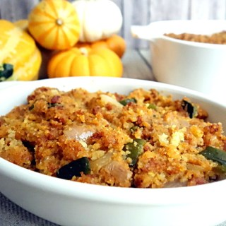 Mexican Style Stuffing with Chorizo and Poblano Peppers