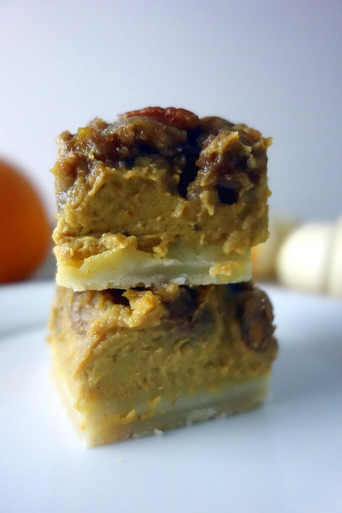 Easy Pumpkin Pie Pecan Bars