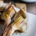 Roast quail on a plate
