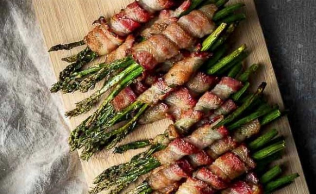 Oven Bacon Wrapped Asparagus Recipe Video Went Here 8 This