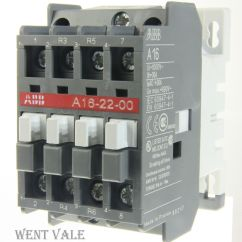 Clipsal 3 Phase Plug Wiring Diagram Position Toggle Switch On Off Abb A16 22 00 30a Four Pole Contactor 240v Coil Un Used