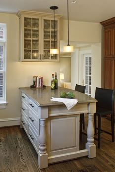 stand alone kitchen cabinets best wood stain for island & peninsula design | maryland (md ...