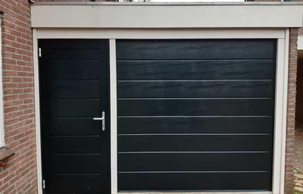 Garagedeur B plank motief