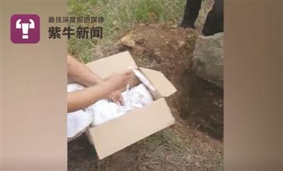 孩子被村民挖出来时的情形。 紫牛新闻记者 陈勇 杨志敏 文/摄