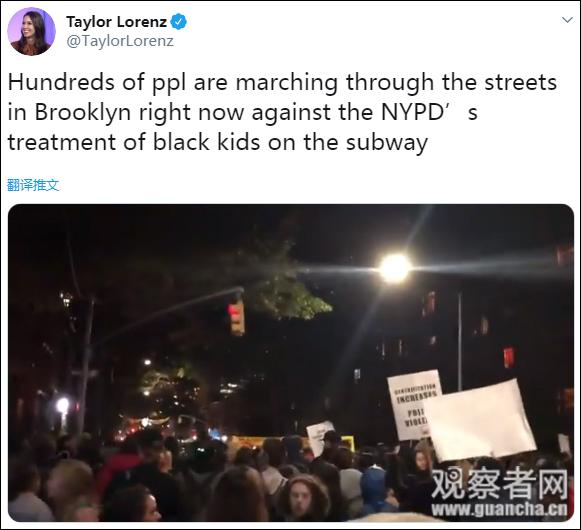 纽约爆发抗议:大批示威者逃票涌入地铁车站(图)