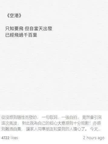 """容祖兒:我從不支持""""港獨"""""""