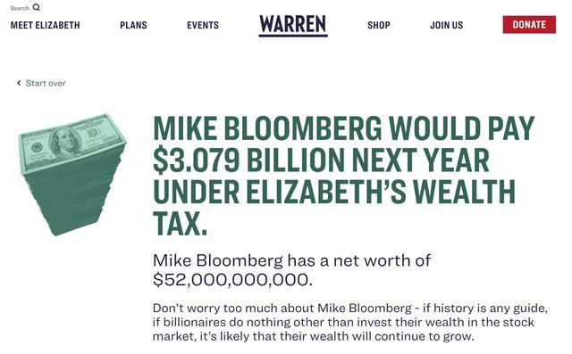 """身家500亿美元的总统?布隆伯格成了民主党激进派的新""""靶子"""""""