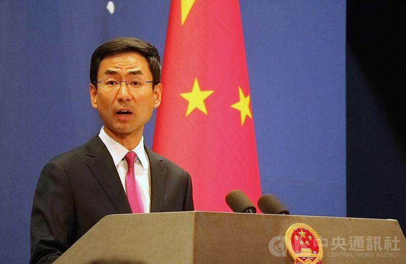 中國外交部發言人耿爽今天回應時仍強調「止暴製亂、恢復秩序」是香港當前最緊迫的任務,並指貫徹「一國兩製」的方針堅定不移。(中央社/資料照片)