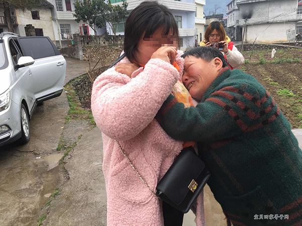 湖北智障女获志愿者帮助找到失联16年亲人
