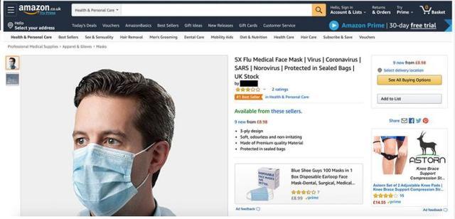 亚马逊口罩卖家遭调查,产品霸榜Best Seller(图)