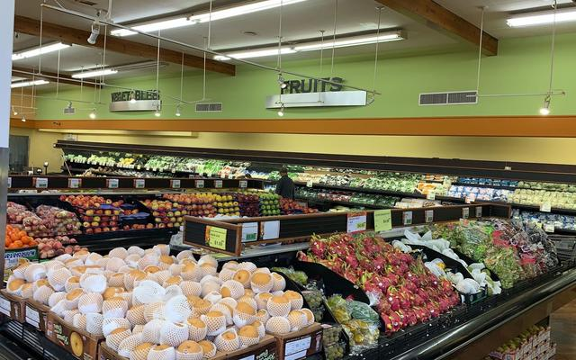 """加州""""居家令""""生效:超市充足 顾客分批采购…(组图)"""