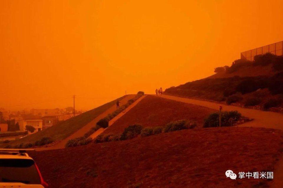 野火包围!正午的旧金山如夜晚般昏暗