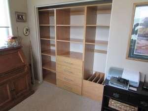 Craft reach in closet