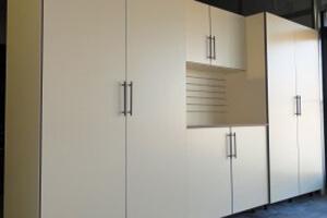 garage cabinets with work bench