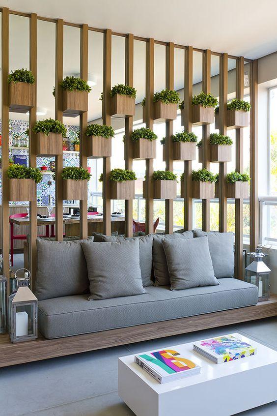 office reception sofa india rattan corner dining set grey divisão de ambientes dentro casa - wepick