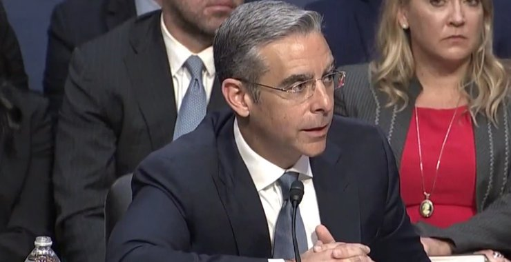 image showing how David Marcus testifies on libra in front of US senate