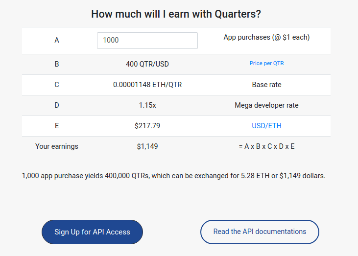 image showing developers how quarters works