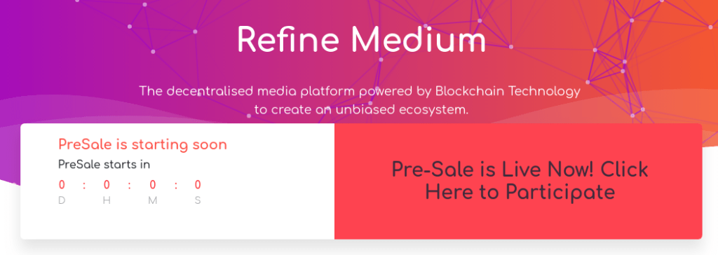 image showing Refine medium pre-sale for airdrop on twitter and other platforms