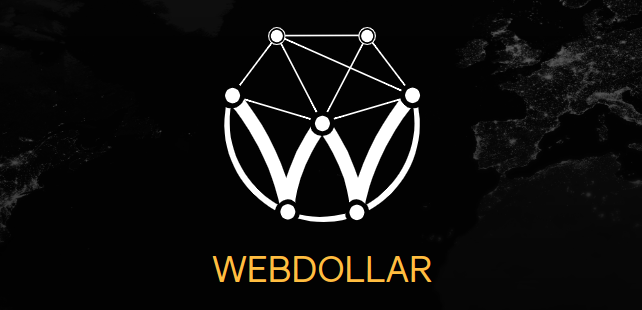 image showing the official webdollar logo found on the website used for crypto mining in the browser