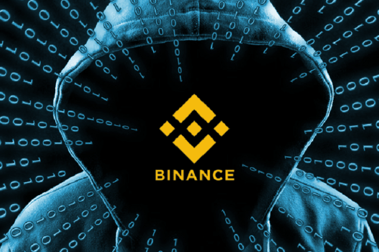 Binance 25BTC to catch hacker image showing hacker and binance