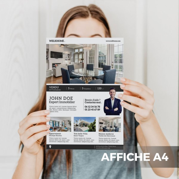 Affiche A4 Agence Immobilière WePrint