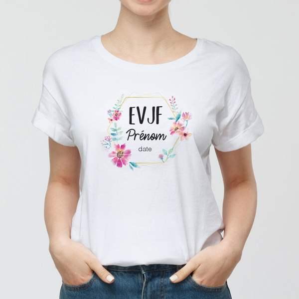 T-shirt evjf femme personnalisé WePrint