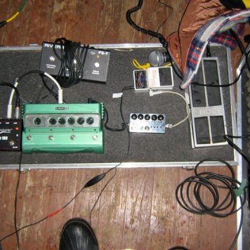 Tynan's Pedal Board - Recording 'Call Me When You're Single' - January 6-13, 2011