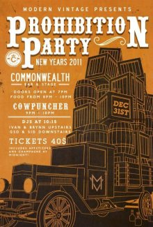Commonwealth Prohibition Party, New Years Eve 2011