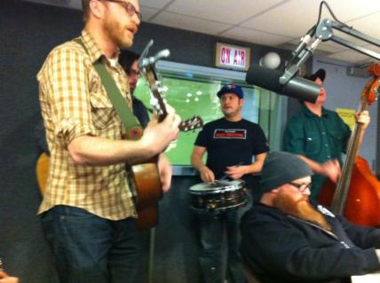 Live on CJSW promoting the Drum and Monkey's Annual Toy Drive - Dec 2011