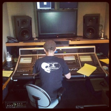 Robbie Josh at the console - Pilot Audio. Recording Ghost Notes - September 13-16, 2012