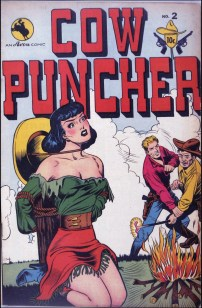 Cow Puncher #2, September 1947. Cover art by Jack Kamen.