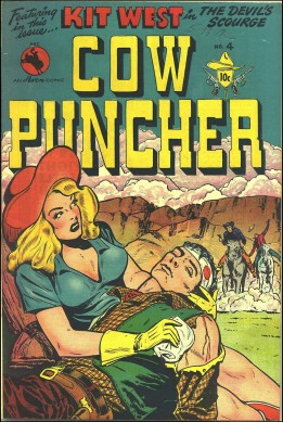 Cow Puncher #4, 1948. Cover art by Al Ulmer.