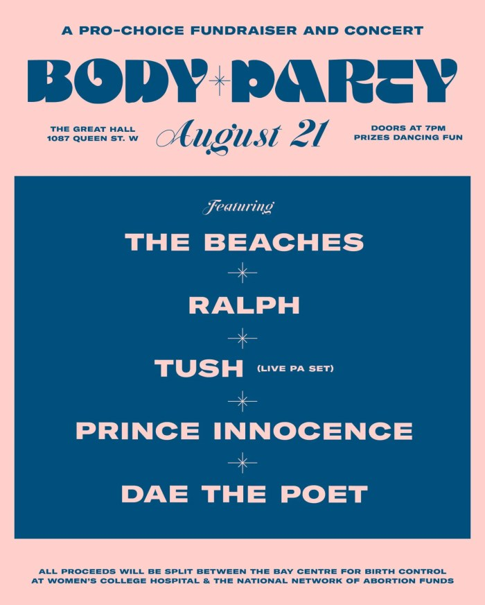 BODY PARTY poster