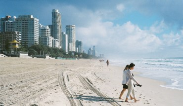 people walking on the gold coast