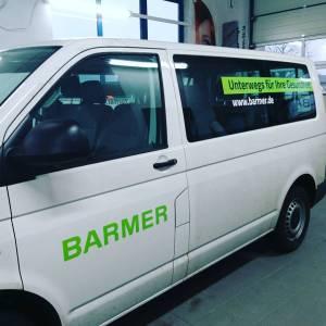 Fahrzeugbeschriftung für die BARMER Krankenkasse