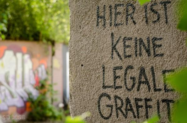 Keine legale Graffiti
