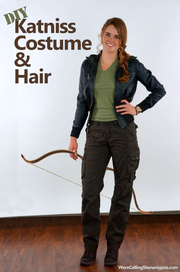 10 clever last minute homemade costumes were calling shenanigans diy katniss costume and hair solutioingenieria Gallery