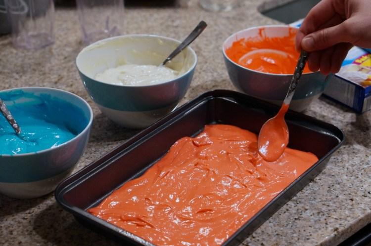 red-cake-batter