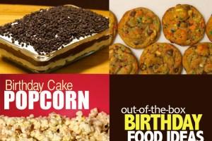 5 birthday food ideas