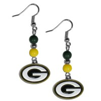 Beaded Green Bay Packers Earrings - We're Good Sports