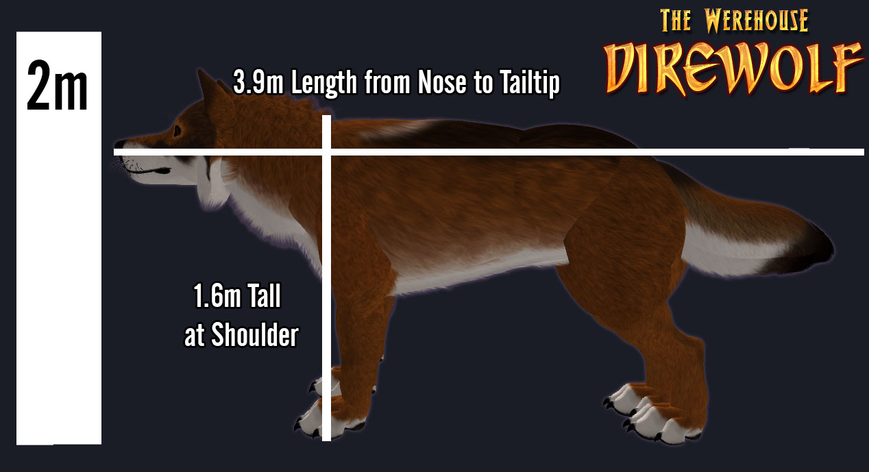 hight resolution of dire wolf size chart photo 19