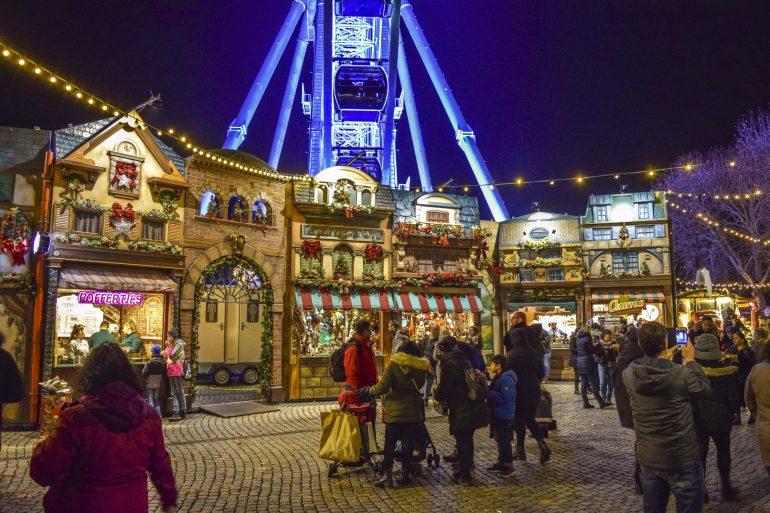 Düsseldorf, kerst shoppen op de kerstmarkt