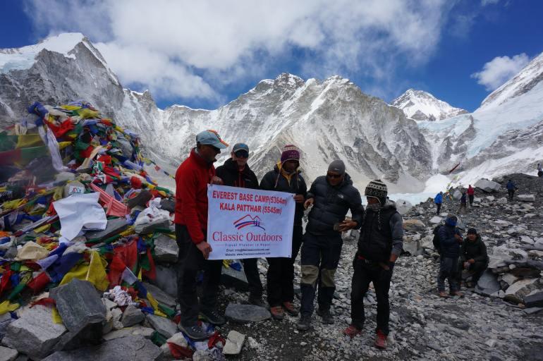 Everest base camp - dak van de wereld