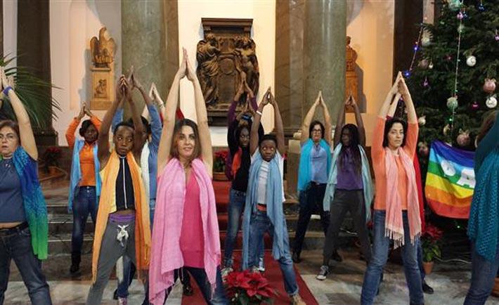 Palermo, flash mob diritti umani