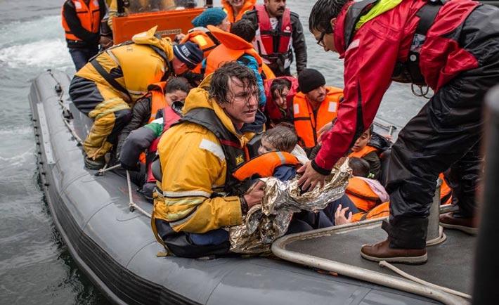 Un'operazione di salvataggio in mare di MSF