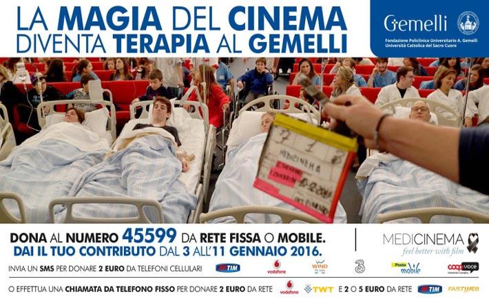 il cinema come terapia al Gemelli di Roma