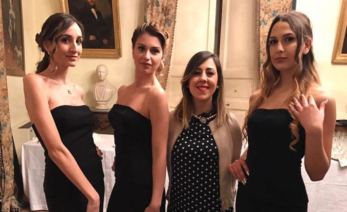 Giada Falcone tra le sue modelle
